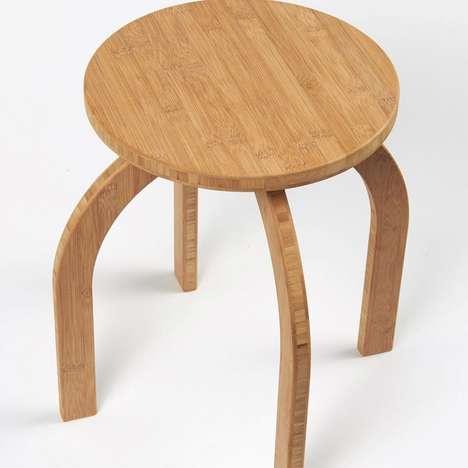 Flatpack Bamboo Stool Seats