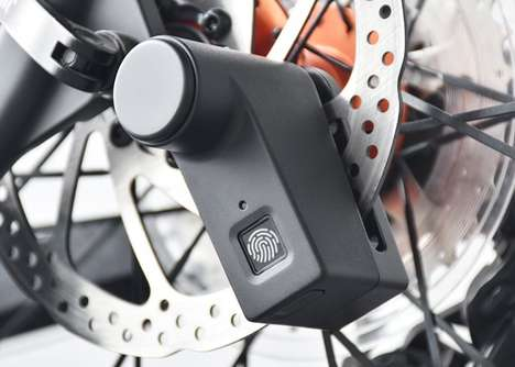 Biometric Bike Brake Locks