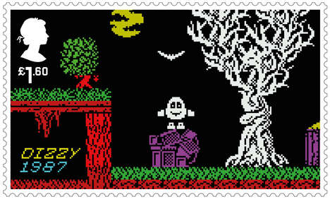 Video Game-Inspired Mail Stamps