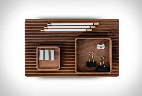 Combinational Wooden Desk Organizers