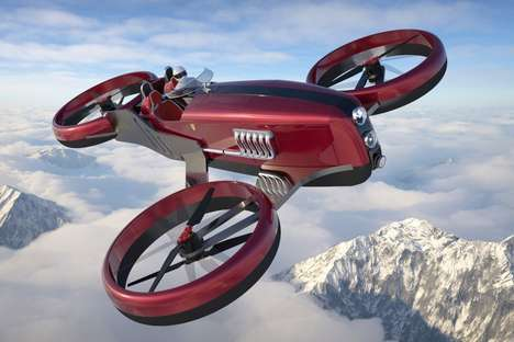 Retrofuturism Racing Drones