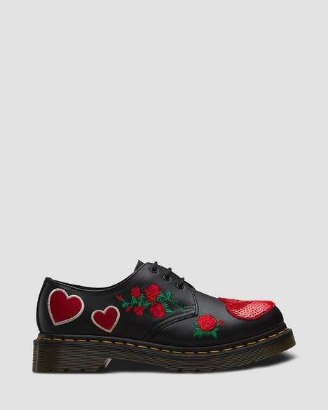 Heart-Themed Oxford Shoes