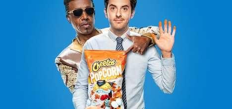 Humorous Celebrity Popcorn Ads