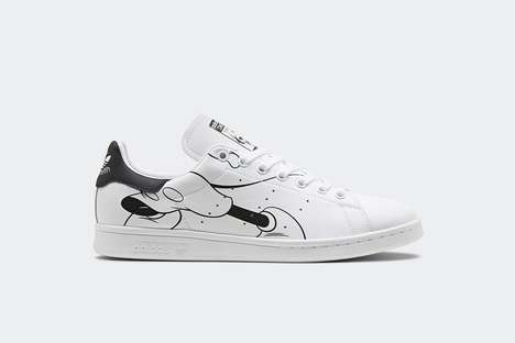 Celebratory Cartoon-Adorned Sneakers