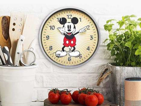 Voice Assistant Cartoon Clocks