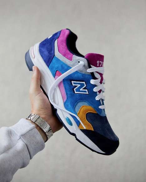 Colorful Sleek Suede Sneakers