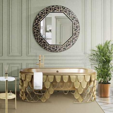 Opulent Aquatic Creature Bathtubs
