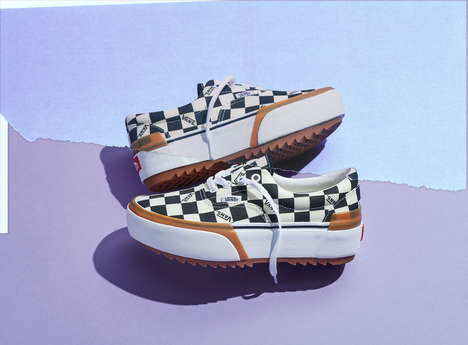 Boldly Dynamic Stacked Sneakers