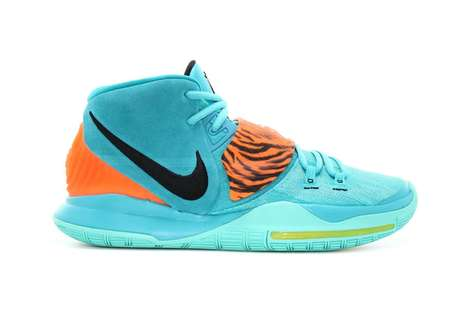 Aqua Tonal Basketbal Sneakers