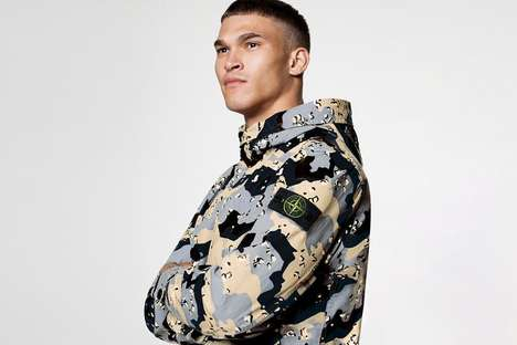 Camo-Patterned Tech Outerwear