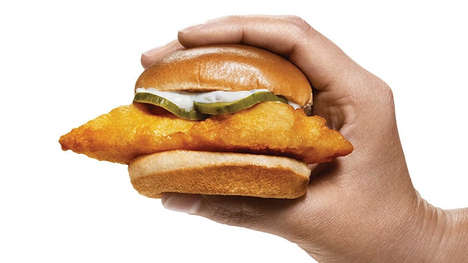 Mini Golden-Fried Cod Sandwiches