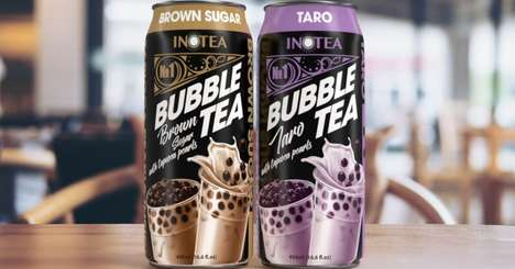 Canned Bubble Tea Beverages