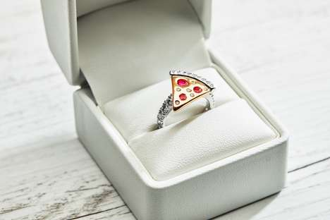 Pizza-Themed Engagement Rings