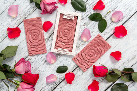 Rose-Shaped Chocolate Bars