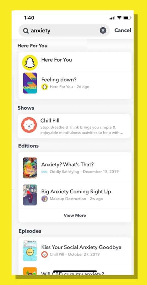 In-App Mental Health Resources