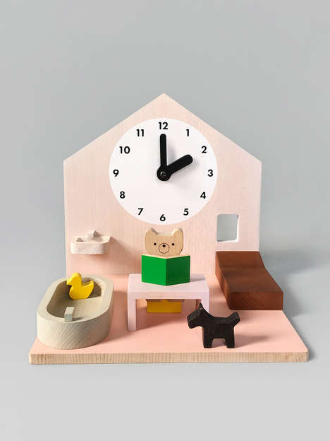 Contemporary Dollhouse Clocks