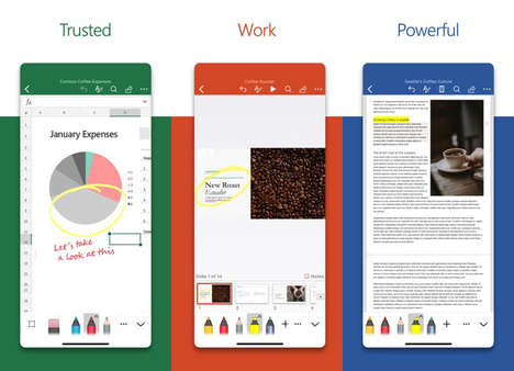 Redesigned Mobile Office Apps