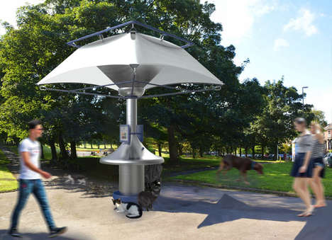 Rain-Collecting Water Fountains