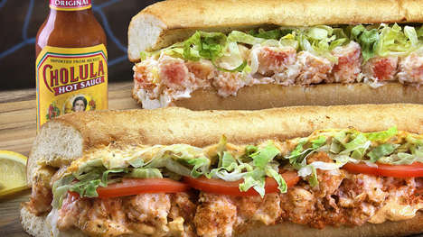 Spicy Seafood Sub Sandwiches