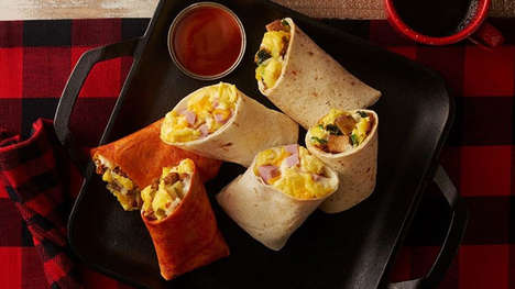 Cold Protein-Rich Breakfast Wraps