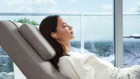 Chic Solar-Powered Earbuds
