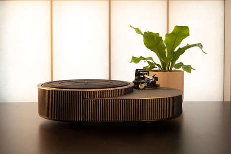 Grooved Aluminum Record Players