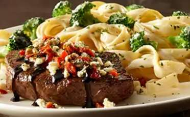 Alfredo-Crusted Sirloin Steaks