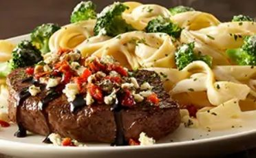 Alfredo-Crusted Sirloin Steaks