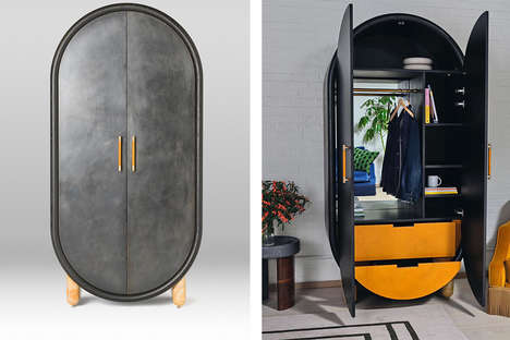 Posh Pill-Shaped Wardrobes