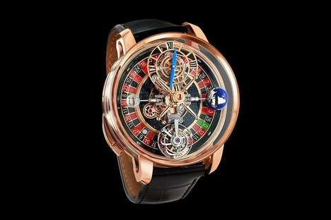 Roulette Wheel-Integrated Watches