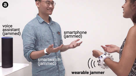 Microphone-Jamming Bracelets