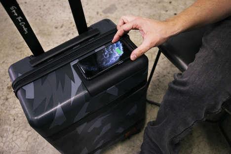 Premium Phone-Charging Suitcases