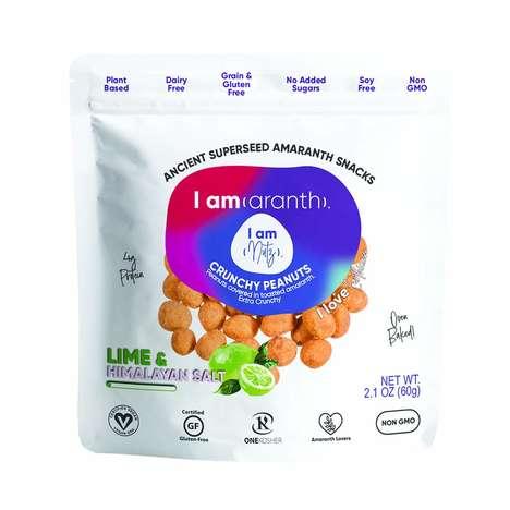 Amaranth-Coated Nut Snacks