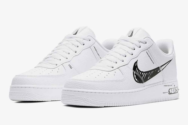 Doodle Inspired Sneakers : Nike Air Force 1 Sketch
