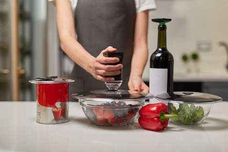 Food Waste-Preventing Storage Lids