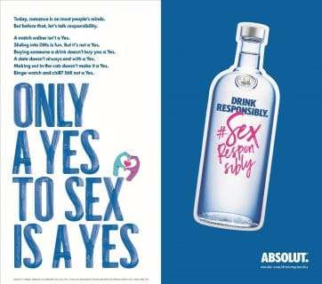 Consent-Themed Vodka Campaigns