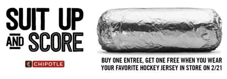 Hockey-Themed Burrito Promotions