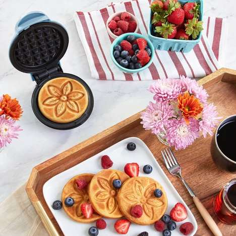 Flower-Print Waffle Makers