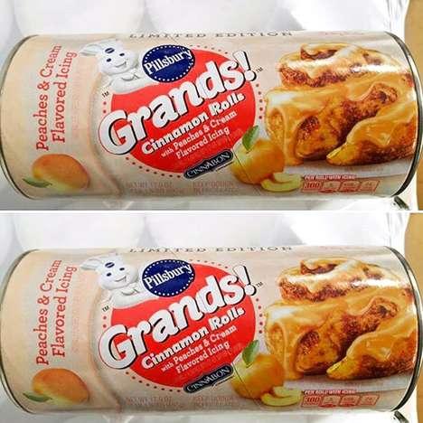Creamy Peach Cinnamon Rolls