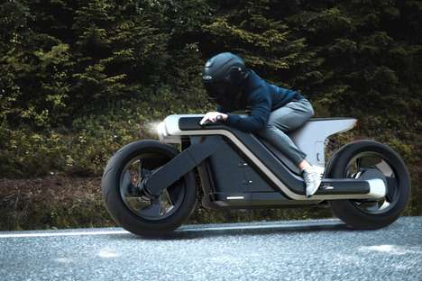 Aerodynamic Z-Shaped Motorcycles