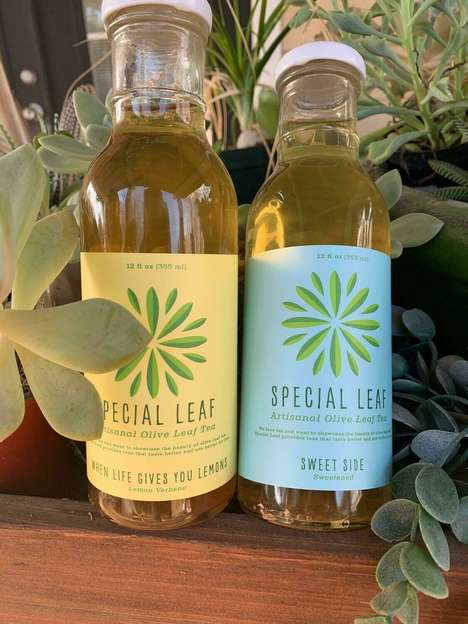 Bottled Olive Leaf Teas
