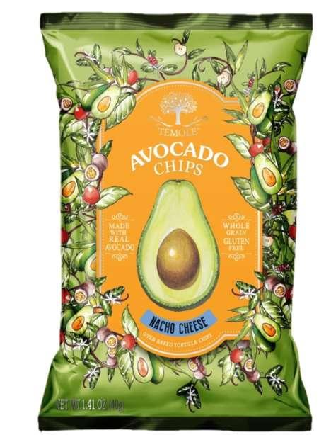 Avocado-Based Cheesy Chips