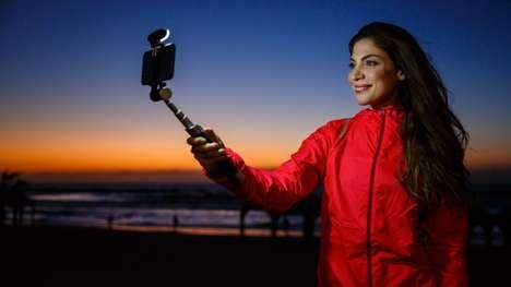 Light-Equipped Selfie Sticks