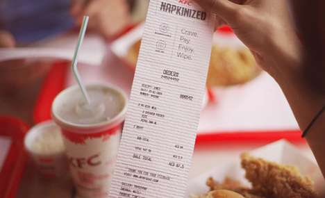 Fast Food Napkin Receipts