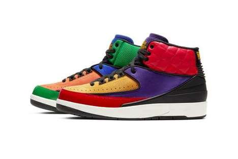 Boldly Colorful High-Top Sneakers