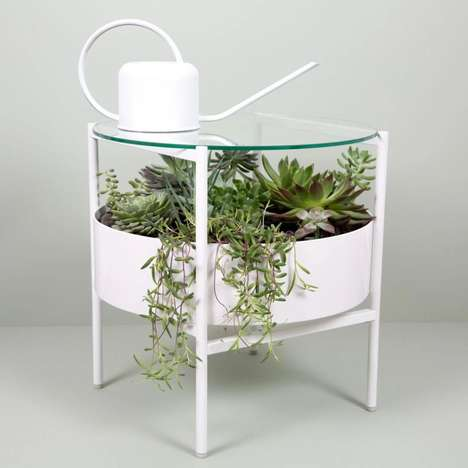 Greenery-Integrated Tables