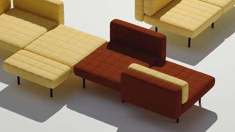 Interchangeable Block-Like Sofas