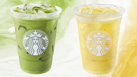 Colorful Coconut Milk Beverages