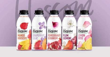 Floral Water Beverages