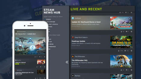 Live-Updated Gaming Hubs